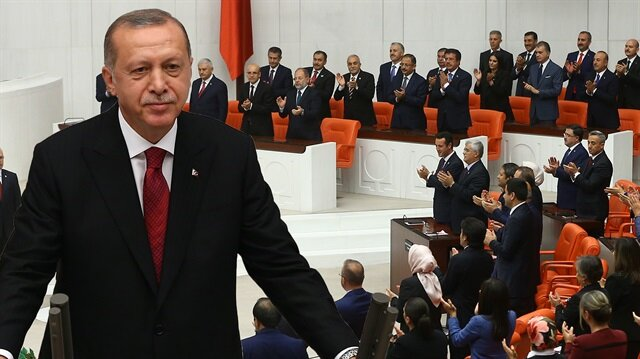Meclis'te tarihi gün: Erdoğan yemin ederek göreve başladı