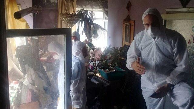 Cihangir'deki lüks evden 8 ton çöp çıktı