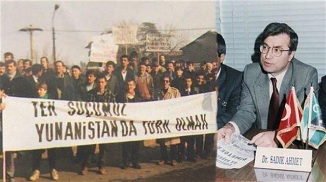 Batı Trakya Türk'üne Türk dediği için hapse mahkum edilen lider: Doktor Sadık Ahmet