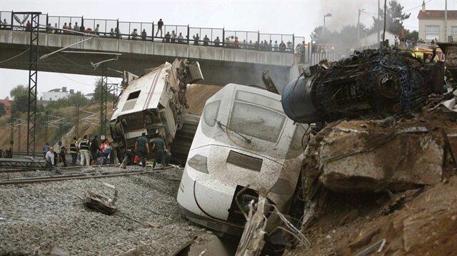 İspanya'da korkunç hızlı tren kazası: Santiago de Compostela