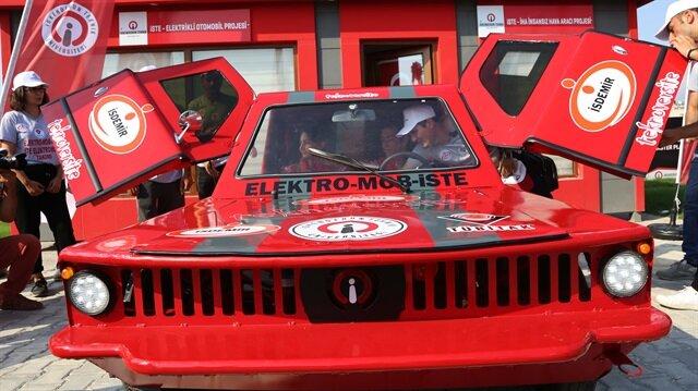 TÜBİTAK yarışması için dört çeker elektrikli otomobil üretildi
