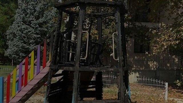 Çocuk parkına girenler gözlerine inanamadı