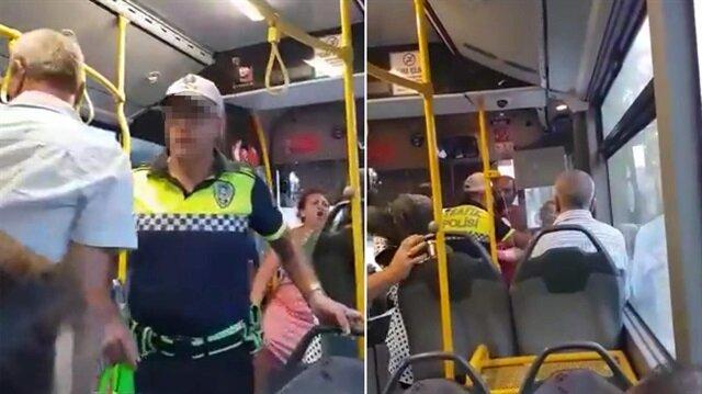 Trafik polisi kendisine saldıran köpeğe ateş etti!