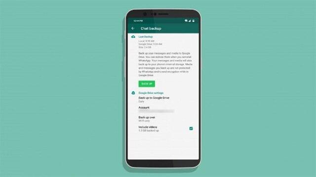 WhatsApp yedekleri Google Drive alanında yer kaplamayacak