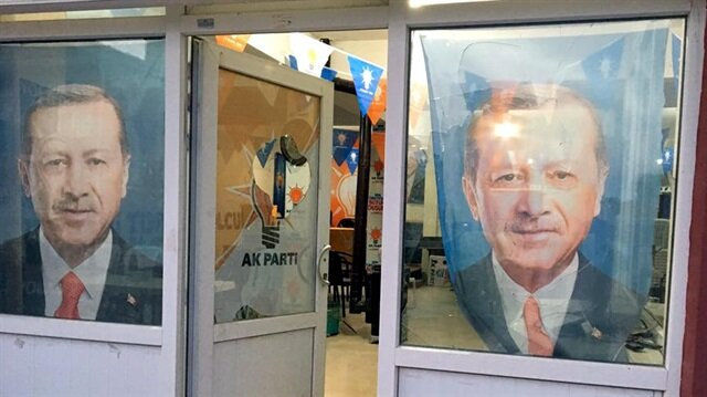 Eskişehir'de AK Parti İlçe Başkanlığı binasına saldırı