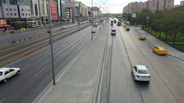 İstanbul'da trafik yoğunluğu yüzde 10'un altında