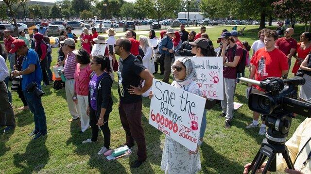 ABD'nin başkentinde Arakan protestosu