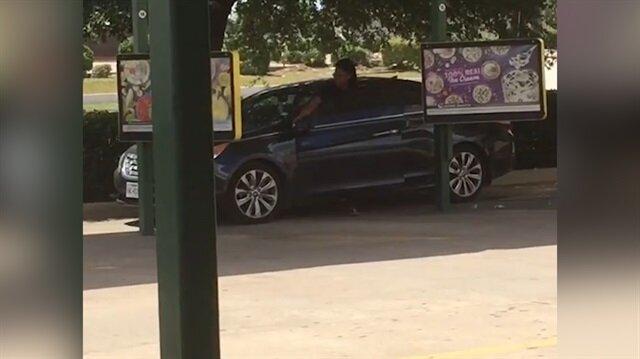 Park ettiği yerden çıkamayan acemi kadın sürücü