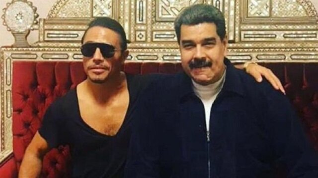 Venezuela lideri Maduro Nusr-Et'te yemek yedi