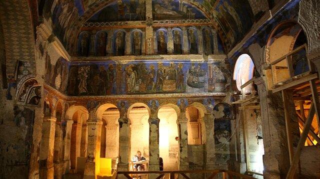 Bin yıllık fresklere Türk ve İtalyan dokunuşu