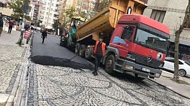 Kartal Belediyesi'nden ilginç asfalt açıklaması