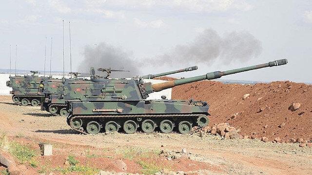 TSK Suriye'deki terör mevzilerini bombaladı