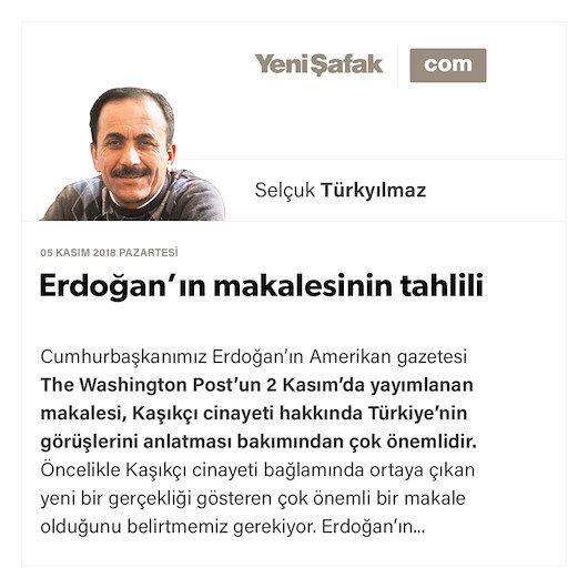 Erdoğan'ın makalesinin tahlili