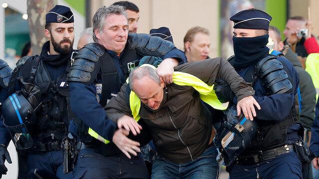 Fransız polisinden 'Sarı Yeleklilere' geçit yok