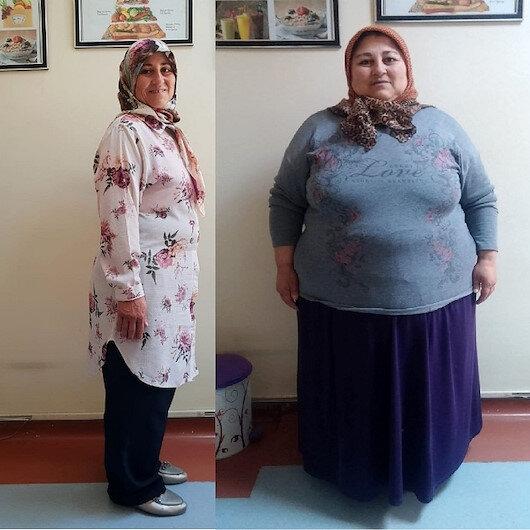 Obeziteyi engelli oğlu için yendi 70 kilo verdi