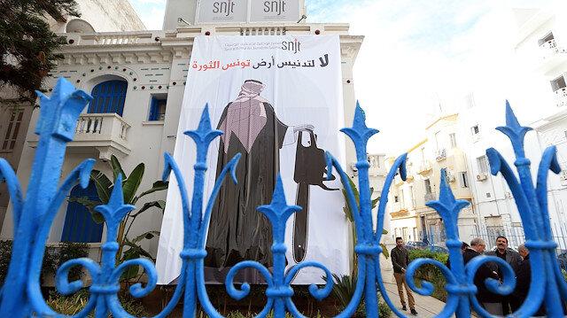 """""""Devrim toprağı Tunus'un kirletilmesine, hayır"""""""
