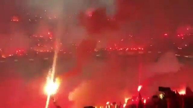 Galatasaray antrenmanından muhteşem görüntüler