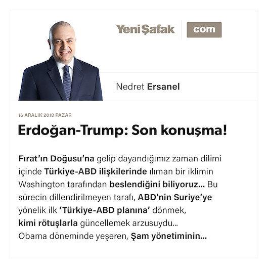 Erdoğan-Trump: Son konuşma!