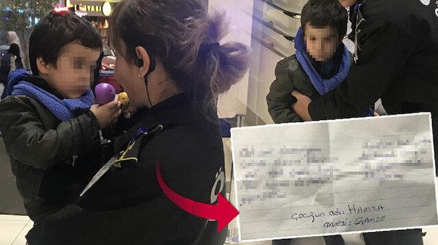 3 yaşındaki oğlunun cebine not yazıp AVM'de bırakıp gitti