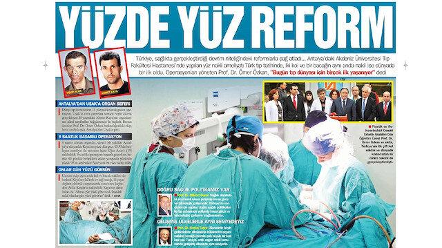 Türkiye'de ilk yüz nakli 7 yıl önce bugün yapıldı