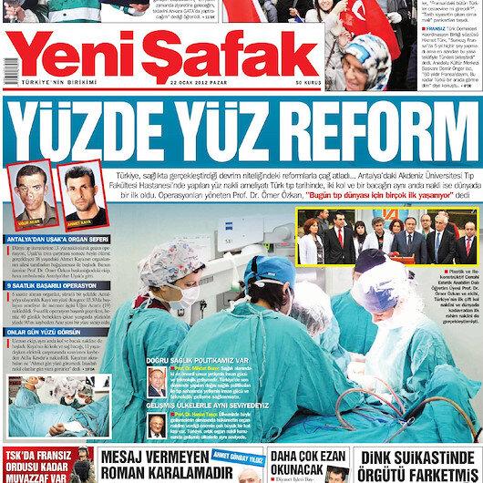 Türkiyede ilk yüz nakli 7 yıl önce bugün yapıldı