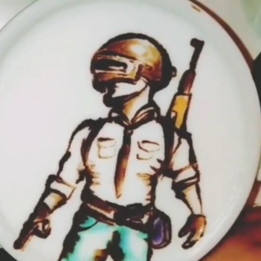 Kahve sanatına PUBG dokunuşu