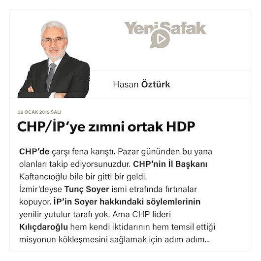 CHP/İP'ye zımni ortak HDP
