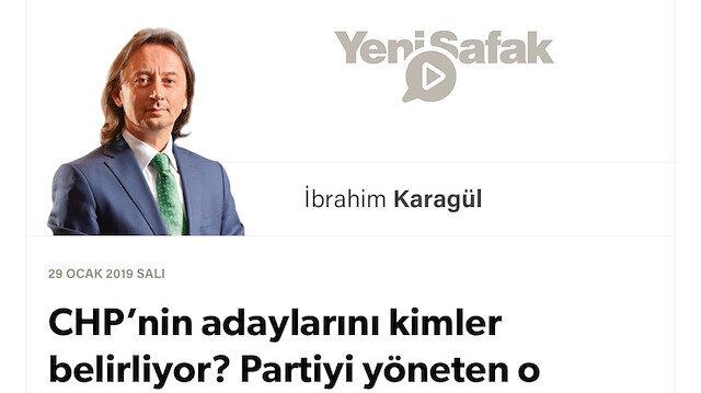 * CHP'nin adaylarını kimler belirliyor? * Partiyi yöneten o gizemli akıl kimdir? * CHP-İyi Parti-HDP (PKK) cephesi de ne? * Artık 'CHP' diye bir 'siyasi kimlik' yoktur.