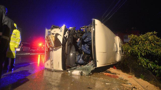 Asker uğurlamasında feci kaza: 3 ölü, 13 yaralı