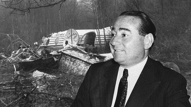 Adnan Menderesin Londra uçak kazası