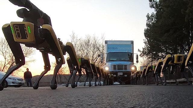 Boston Dynamics robotları bu kez de büyük bir kamyonu çekiyor