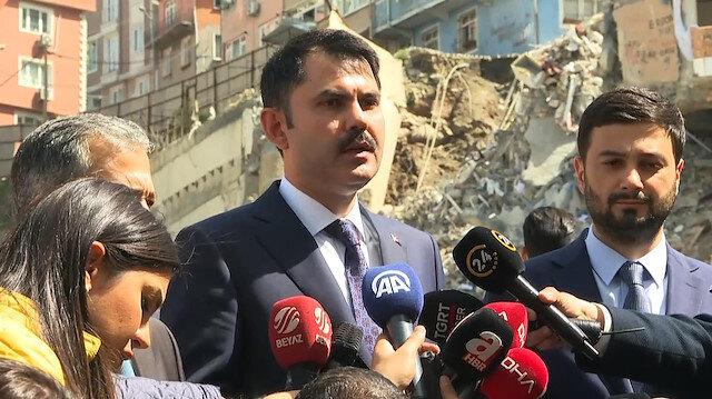 Bakan Kurum: Kağıthanede 68 bina incelenecek