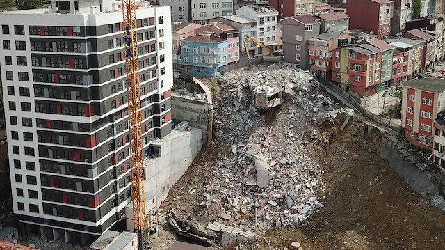 Kağıthane'de çöken bina mağdurları maddi yardım yapıldı