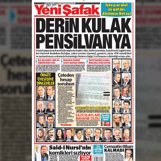 Türkiye 'derin kulağı' Yeni Şafak'tan öğrendi