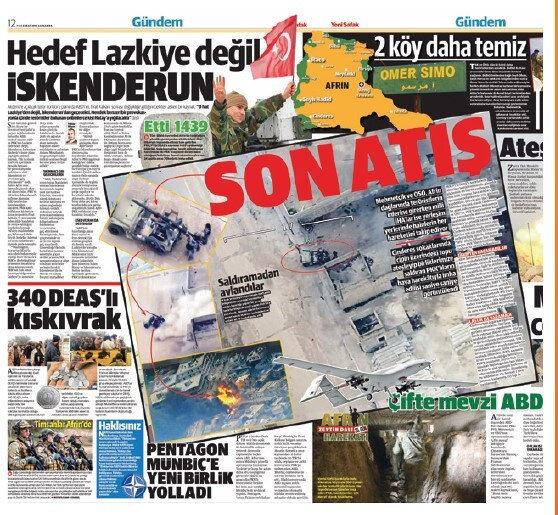 Afrin-Cinderes'te Türk ordusuna saldıran teröristlerin vurulma ânı, insansız hava aracı görüntüleriyle dünyaya böyle duyuruldu.