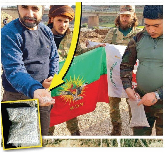 TSK ve ÖSO'nun ortak operasyonları, PKK'nın uyuşturucu ticaretine büyük darbe vurdu. Suriye'den en doğru bilgileri özel haberlerle aktaran Yeni Şafak Muhabiri Yılmaz Bilgen, Burseya Dağı'nda PKK'nın Captagon haplı zehir depolarına ÖSO üyeleriyle birlikte girdi.