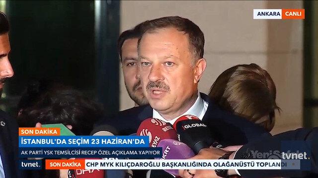 AK Partili Özelden seçimlerin yenilenmesiyle ilgili açıklama