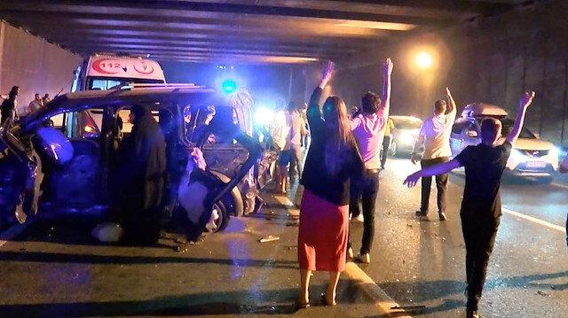 TEM'de makas dehşeti: 4 ölü, 10 yaraladı