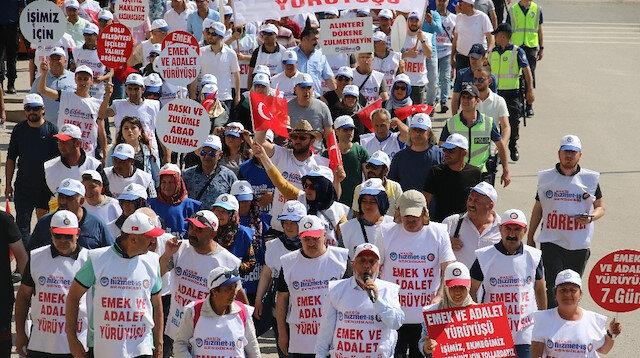 İşçilerin 'Emek ve Adalet Yürüyüşü' Kahramankazan'da sona erdi