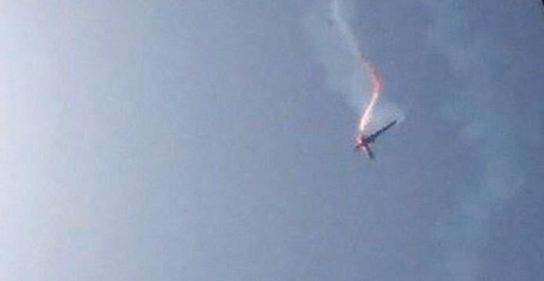 ABD casus uçağının İran tarafından düşürülme anı.