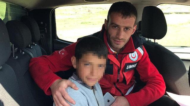 Kars'ta kaybolan çocuk 8 saat sonra bulundu
