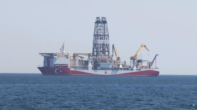 Sondaj gemisi Yavuz Antalya açıklarında