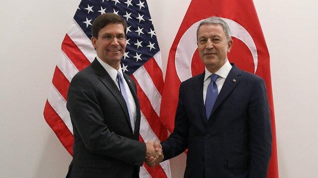 Milli Savunma Bakanı Akar, ABD Savunma Bakan Vekili Esper ile görüştü