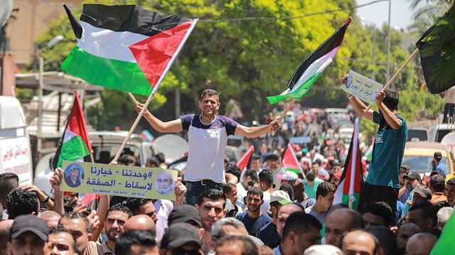 Gazze'de Bahreyn'deki ihanet çalıştayını protesto etti