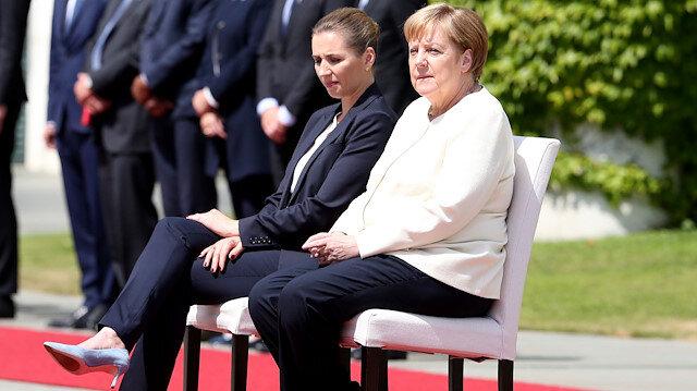 Merkel'in titreme nöbetine sandalyeli önlem