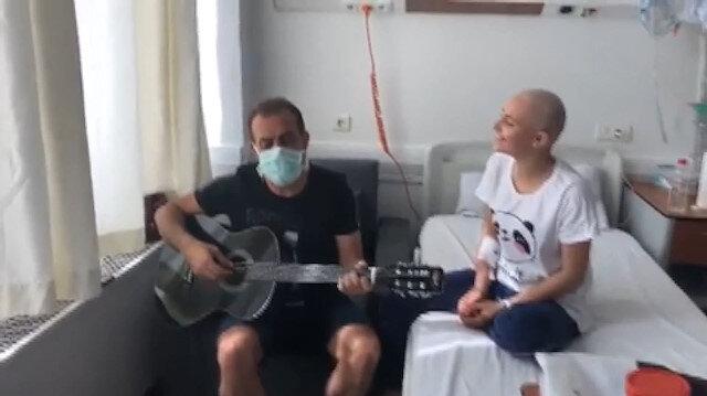 Haluk Levent lösemili Ebru Çelen ile düet yaptı