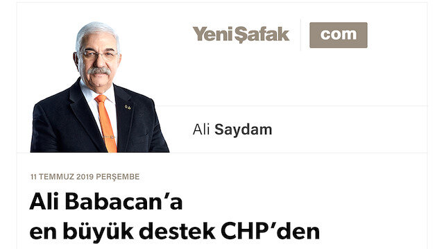 Ali Babacan'a en büyük destek CHP'den