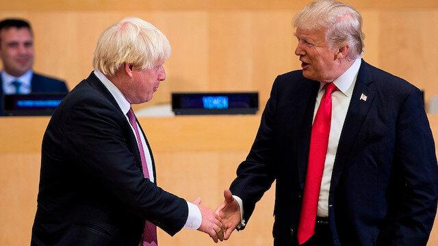 Trump ile Johnson iki ülke ilişkilerini görüştü