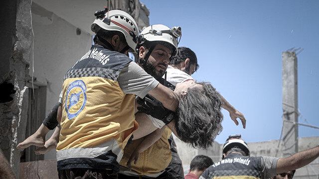 İdlib'e hava saldırılarında iki çocuk öldü