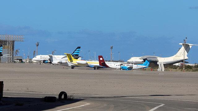 Libya'daki Uluslararası Mitiga Havaalanı'nda uçuşlar durduruldu